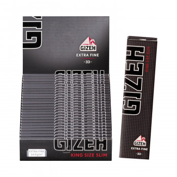 Gizeh Black King Size Slim - 33 Blatt